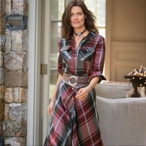 soft surroundings / plaid terrific tartan midi red